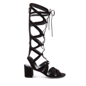 Stuart Weitzman Shoes - Stuart Weitzman Black Grecian Gladiator Sandals